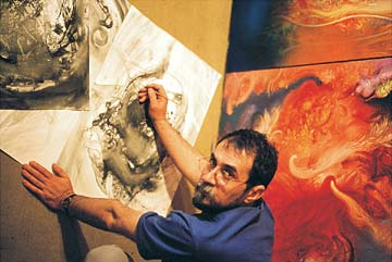Zeljko Djurovic in his studio